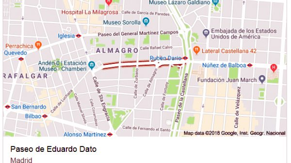 Calle Cisne (hoy Eduardo Dato), donde detuvieron por llevar un Evangelio al hermano Alejo Andrés y se lo llevaron a fusilar.