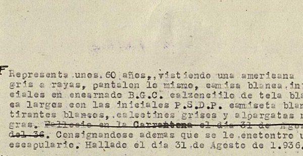 Probable inscripción del enterramiento en Vallecas del beato Manuel Requejo.