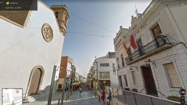 Plaza del Ayuntamiento en Santa Bárbara, donde los mártires bendijeron a la multitud.