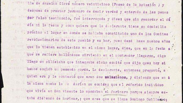 Declaración de Teresa Ferrer.