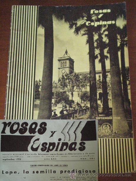 Portada de Rosas y Espinas en septiembre de 1935.