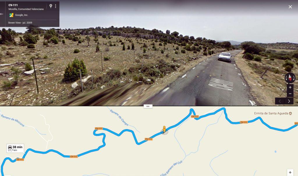 Colina de 1.176 m en el km 4,5 de la CV-111.