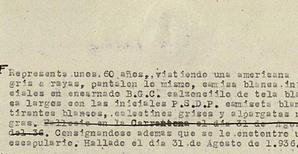 Probable inscripción del enterramiento en Vallecas del beato Manuel Requejo.