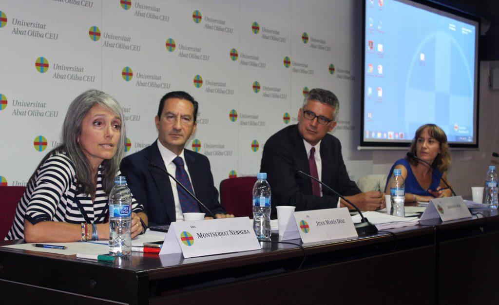 Montserrat Nebrera, Juan María Díaz, Adolfo Lucas y Esther Farnós en el Congreso Internacional de Derecho y Sociedad
