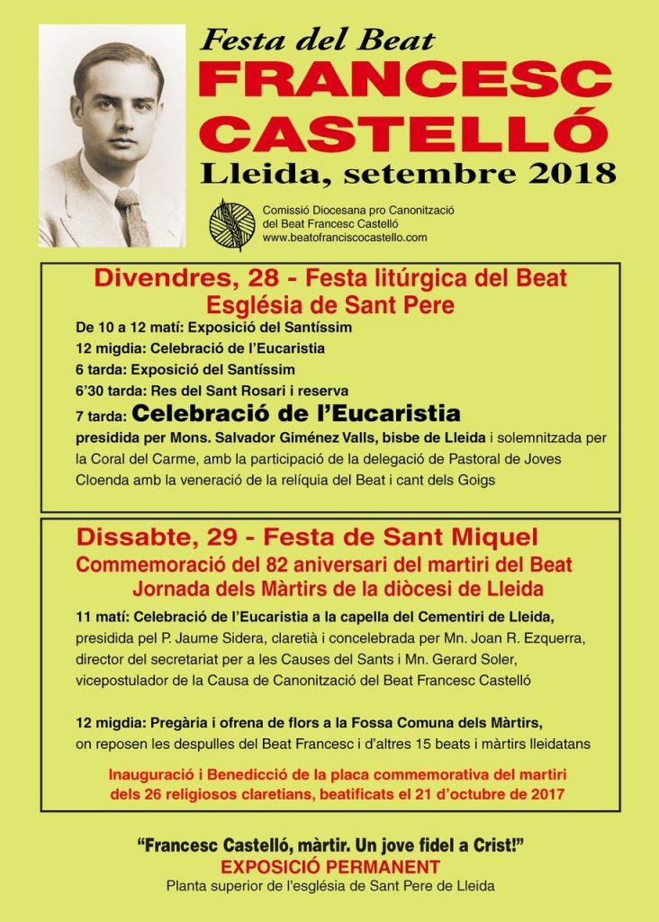 Jornada de los mártires del siglo XX en Lérida.