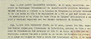 Mención del asesinato el 4 de septiembre de 1936 de un párroco en el Pinar de Lada.