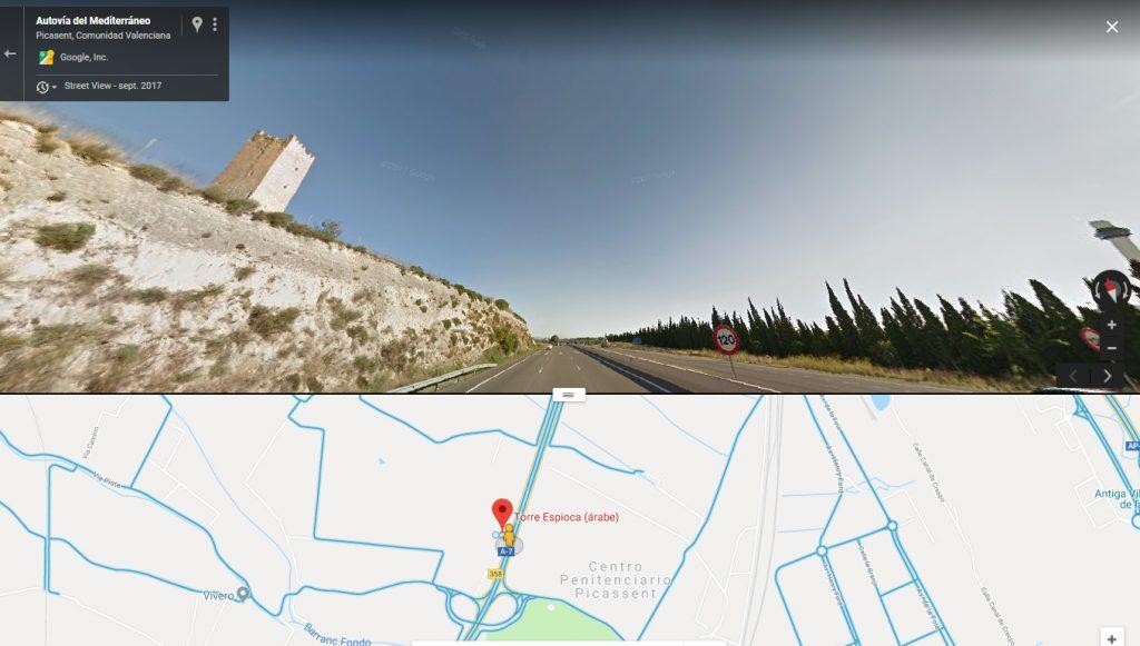Torre Espioca, frente a la cárcel de Picasent.