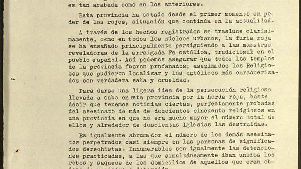 """La fiscalía estimó en 4.000 las personas asesinadas en Almería capital y en 250 los """"religiosos""""."""