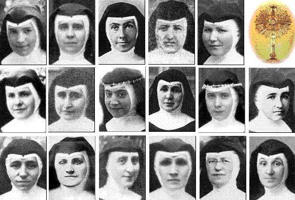 17 de las adoratrices mártires.