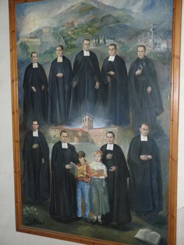 Cuadro de los 9 santos mártires de Turón, en Bujedo (Foto J. L. Teulón)