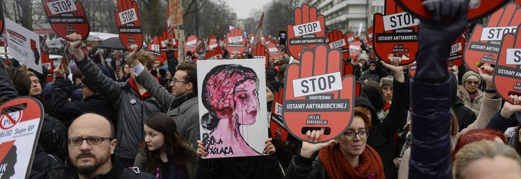 Manifestación contra el aborto en Varsovia