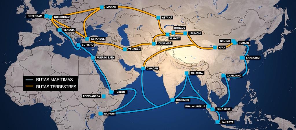 Nueva Ruta de la Seda china