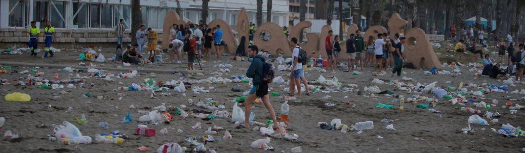 vertido de plásticos