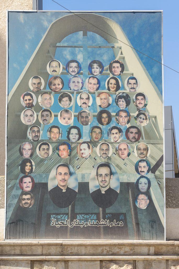 Los mártires de la catedral del Perpetuo Socorro en Bagdad (foto Pascal Magesyan, Mesopotamia).