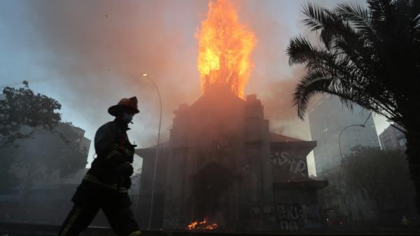 iglesias incendiadas