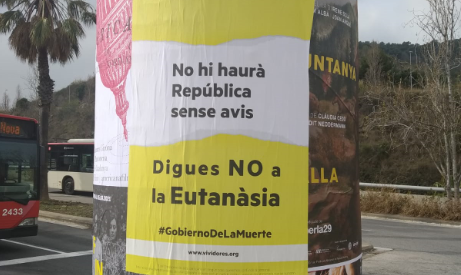 """""""No habrá república sin abuelos"""", la rompedora campaña contra la eutanasia en Cataluña"""